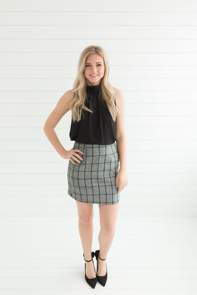 Genevieve Checkered Mini Skirt