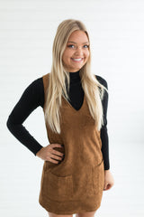 Erica Faux Suede Dress