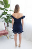 Over the Moon Lace Dress - Navy