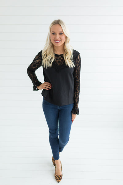 Savannah Lace Detail Top