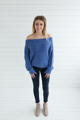 Camilla Scoop Neck Sweater - Violet