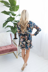 Fantasia Floral Ruffled Dress