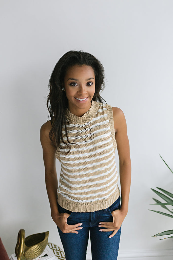 Keenan Sleeveless Knit Sweater