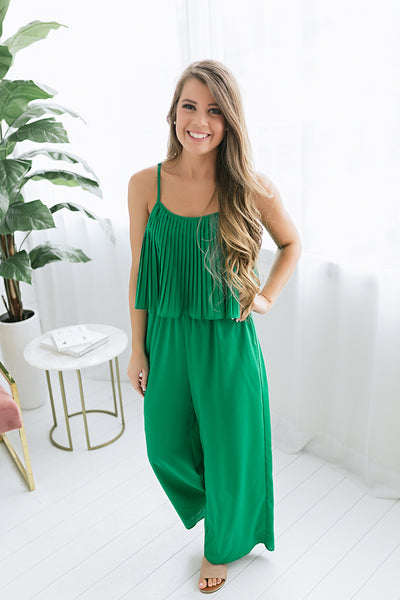 One and Only Pleated Tank Jumpsuit