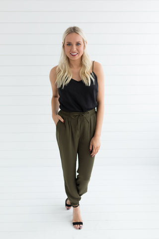 Hailey Jogger Pants - Olive