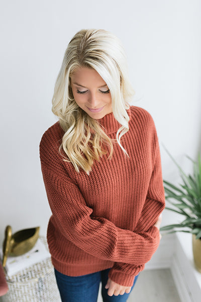 Aesthetic Mock Neck Sweater