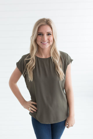 Kiki Blouse - Dusty Olive