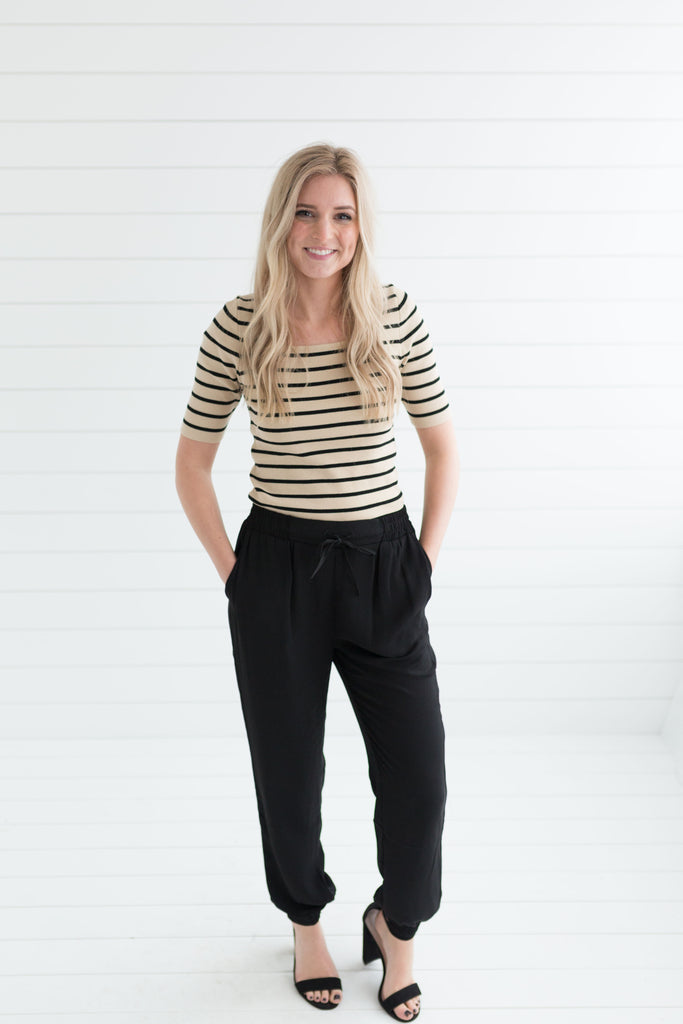Hailey Jogger Pants - Black