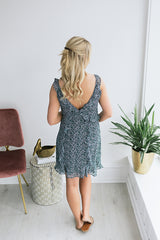 Sky is the Limit Ruffled Dress