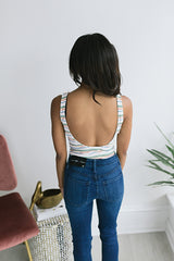 Sweetart Scoop Back Bodysuit
