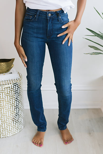 Katie Basic Cigarette - Dark Denim