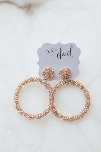 Cassie Beaded Hoops