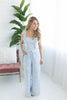 Must Be Dreaming Floral Tie Jumpsuit - Sky
