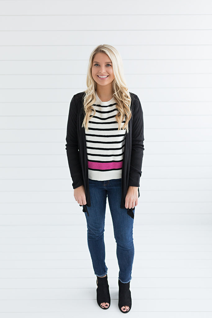 The Lightweight Natalie Cardigan - Black