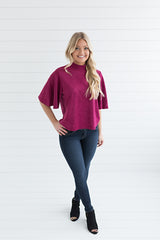Elise Faux Suede Top