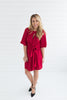 Victoria Knot Dress - Red