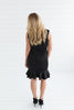 Holiday Ruffle Dress - Black