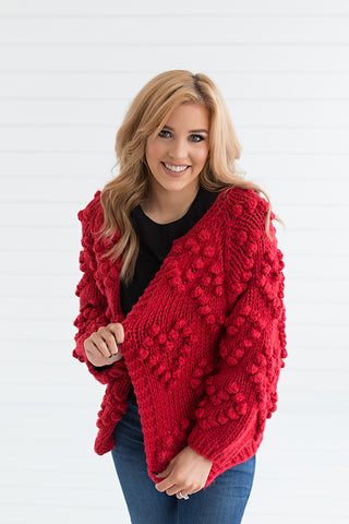 Heart My Way Sweater - Red