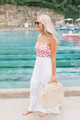 Santorini Embroidered Maxi Dress