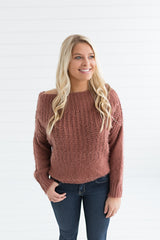 Camilla Scoop Neck Sweater - Red Beam