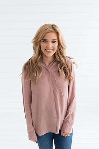 Zoe Button Down Top