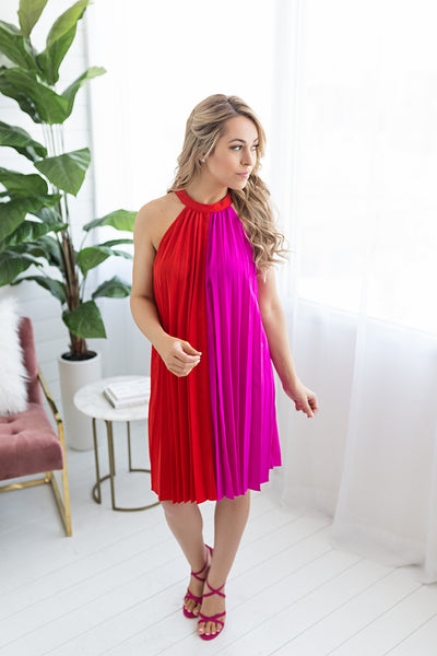 Catalina Pleated Dress