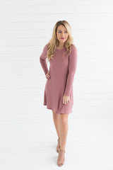 Kelsey Knit Dress - Rose