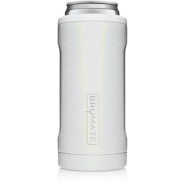 Hopsulator Slim Can Cooler Glitter - White