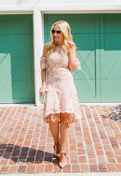 Brittany High Low Lace Dress