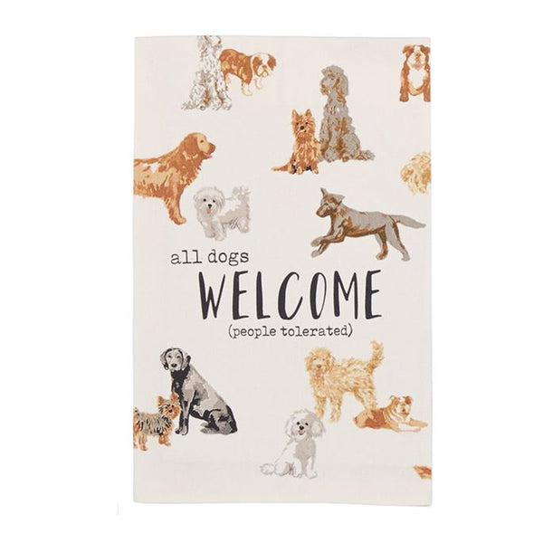 All Dogs Welcome Towel