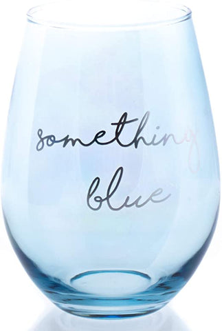 Stemless Wine Something Blue Glass