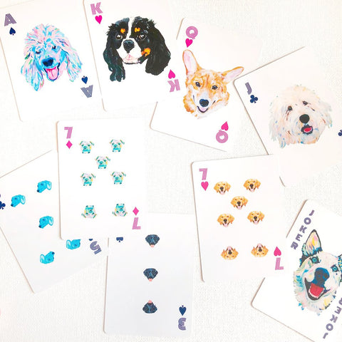 Megan Carn Playing Cards - Dog