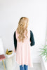Basic Shawl Vest - Blush