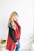 Basic Shawl Vest - Burgundy