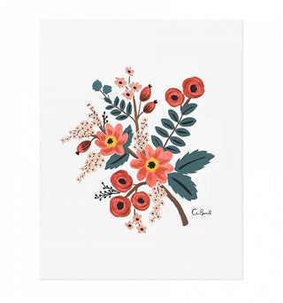 Rifle Paper Co: Coral Botanical Print