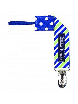 Bella Tunno Pacifier Clip - Tie Stripe