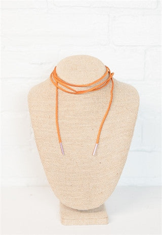 Tan Suede Wrapping Choker