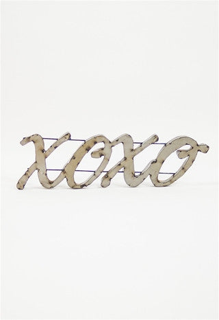 XOXO Large Metal Sign