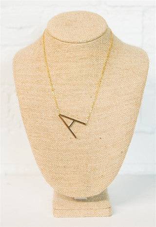 Oversized Initial Necklace