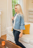 Rachel Frayed Denim Jacket