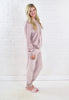 Kylie Velour Sweatpants - Dusty Pink