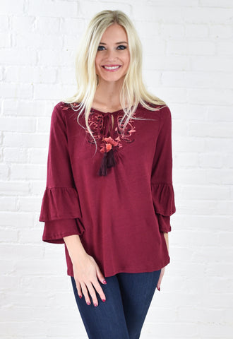 Raw Kayer Bell Sleeve Top