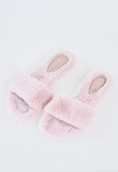 Cozy Winter Slippers - Blush