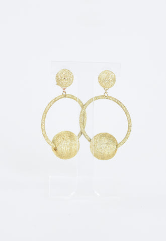 Britt Bauble Party Earrings - Gold