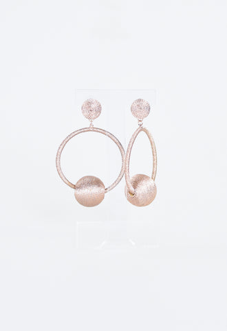 Britt Bauble Party Earrings - Rose Gold