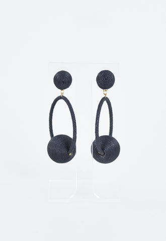Britt Bauble Party Earrings - Black