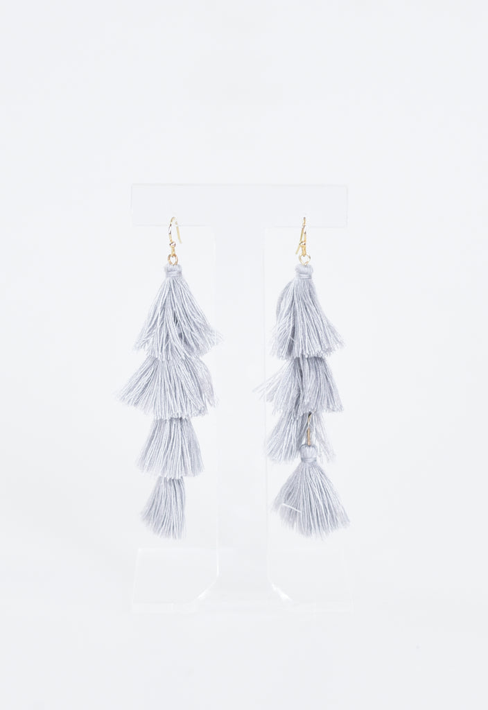 Party Layered Tassel Earrings