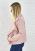 Addie Suede Motto Jacket - Winter Blush