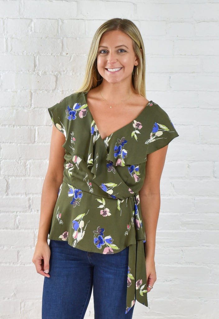 Missy Olive Top