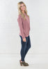 Blush Choker Light Knit Sweater